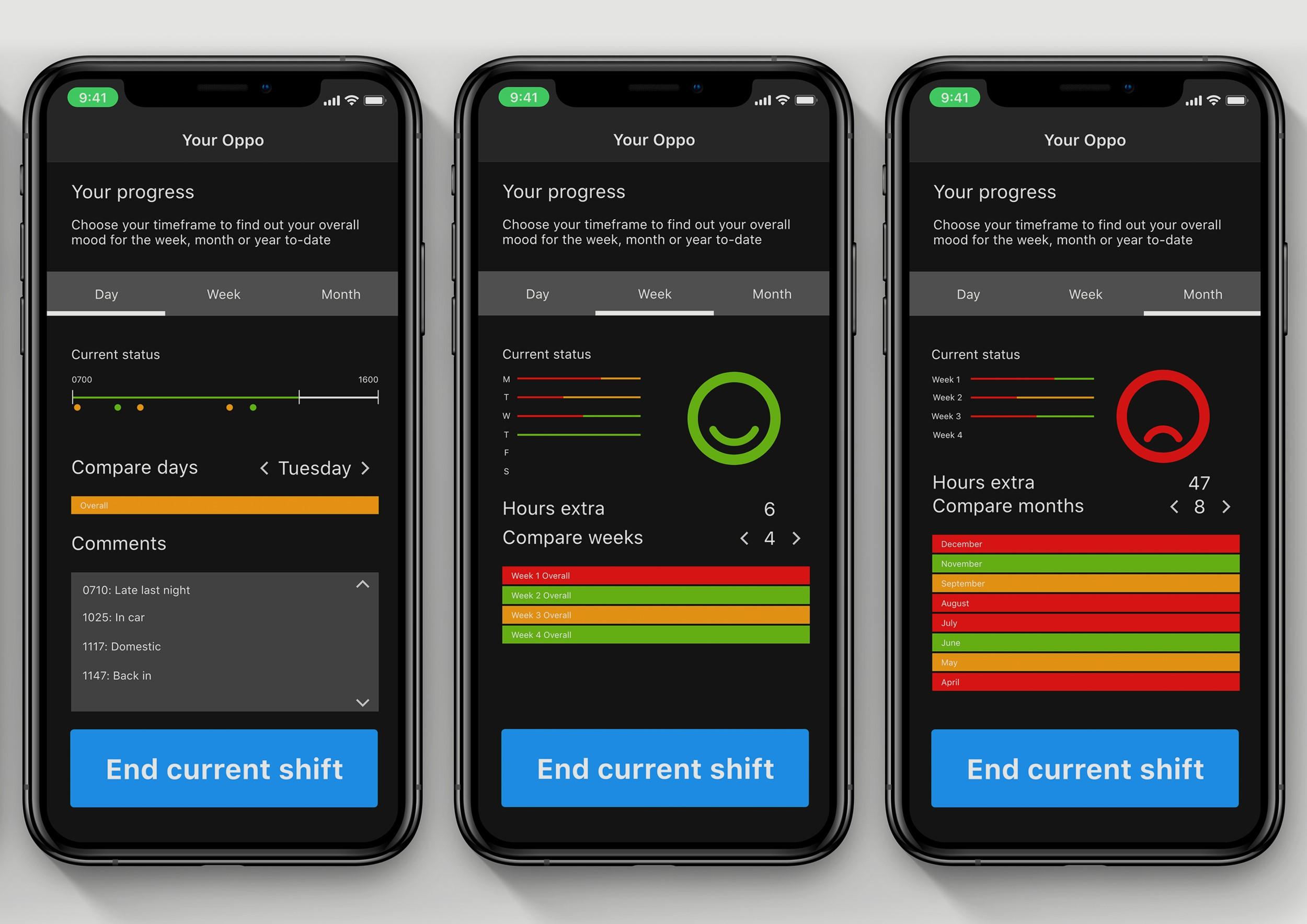 Oppo app interface