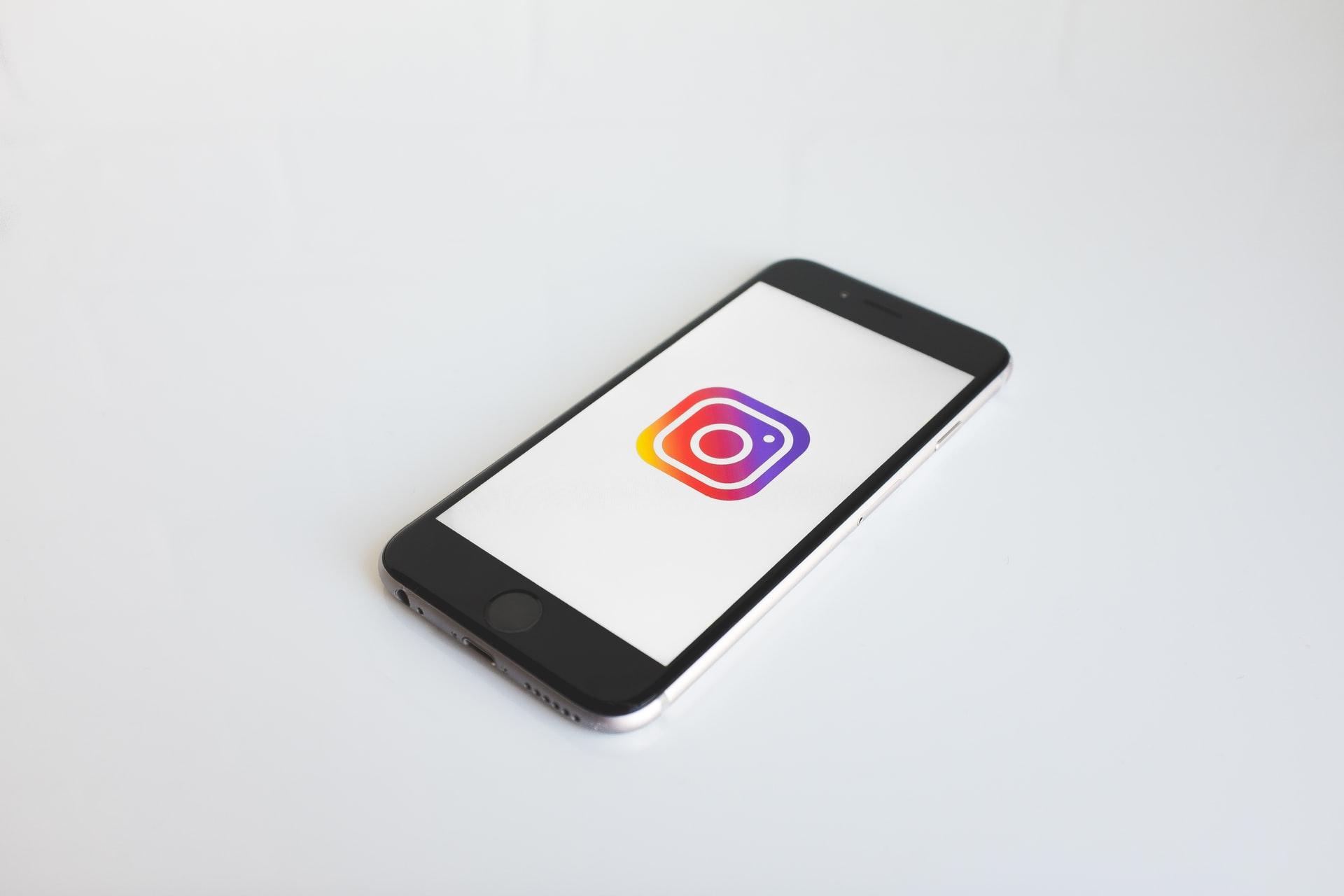 Instagram symbol on phone